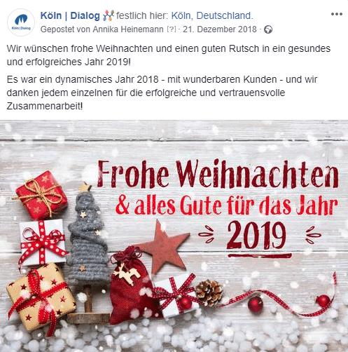 Weihnachten 2019 Köln.Postings Zu Feiertagen Content Ideen Social Media